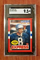 1985 Topps Usfl 65 Steve Young Los Angeles Express Football Card Sgc 9.5 Mint+
