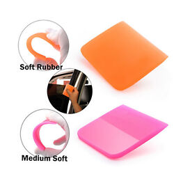 2pcs Water Wiper Squeegee Soft Rubber Scraper For Car Window Tint Cleaning Tools