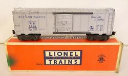Lionel 6464-1 Western Pacific Box Car W/blue Letters-good+ In Orig. Box
