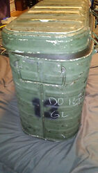 Vintage Us Military Mermite Food Hot Or Cold Insulated Container W/ 3 Inserts