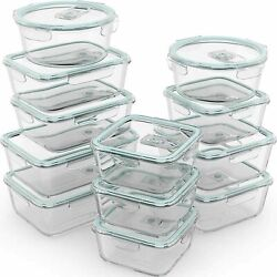 Razab 24pc 12 Containers Glass Food Storage Containers Airtight Lids - 59.99