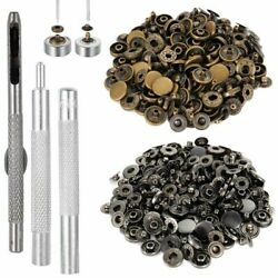 Snap Button 12.5mm 40 Fasteners 4 Pieces Fixing Press Studs Metal Clothing Tool