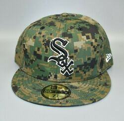 Chicago White Sox New Era 59fifty Army Camo Fatigues Fitted Cap Hat - Size 7 3/4