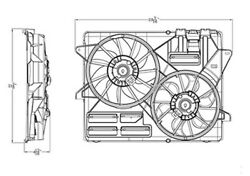 New Dual Radiator And Condenser Fan Fits Ford Mustang 3.7l 2015-2016 Fo3115205