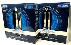 Set Of 2 Oral-b Advanced Clean Rechargeable Electric Toothbrushes Braun 2 Boxes