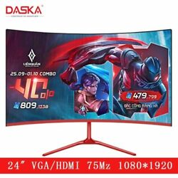 Daska 24 Inch Curved Lcd Monitor Gaming Game Competition 24″ Led