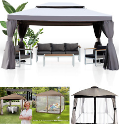 🎪outdoor Patio Soft Top Gazebo Roof Mosquito Net Shelter Shed Sun Uv Proof New