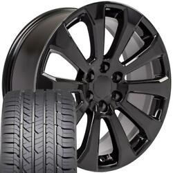 W1x Fits 22 Black 5922 High Country Rims And Gy Tires Chevrolet Silverado