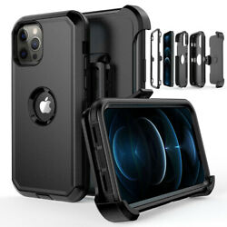 For iPhone 12 Pro 12 Mini 12 Pro Max Shockproof Defender Case CoverBelt Clip $9.96