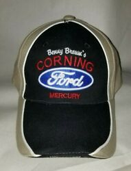 New W/o Tags Benny Brown's Embroidered Corning Ford Mercury Logo Ball Cap Hat