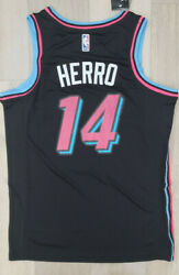 New NWT RookieTyler Herro Men#x27;s Jersey Miami Black Swingman # 14 $49.99