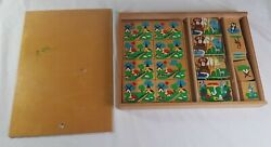 Vintage Simplex J. Blokland Wooden Educational Toys Holland Farm Animals