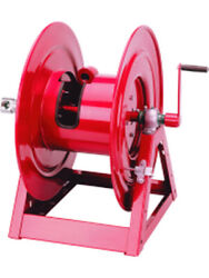 Alemlube 1-1/2 250and039 77kgs Bare Hand Crank Hose Reel 1185-3328