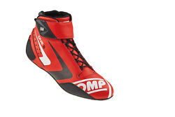 Omp Racing Ic80706146 Pair Shoe One S Red Fire Retardant Fabric Inner Driving