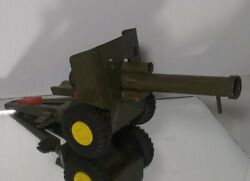 Vintage Japan Tin Toy Cannon Howlitzer Artillery Trailer For Jeep Works Htf Rare