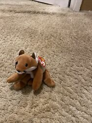Sly The Fox Ty Beanie Baby 1996 Rare Retired With Errors Pvc Pellets