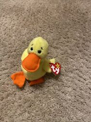 Ty Beanie Baby Quackers The Duck 1994 Rare Retired With Errors Pvc Pellets