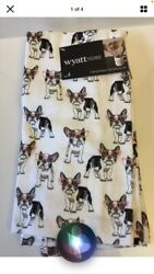 Wyatt Home French Bulldog Boston Terrier 2 Piece Kitchen Towels