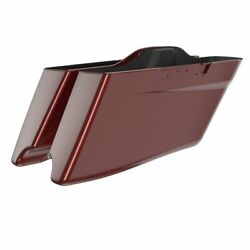 Stiletto Red Cvo Tapered Stretched Extended Saddlebag Lid For Harley Touring 14+