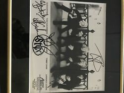 Custom Frame Styx Autographed Signed 8x10 Picture 5 Signatures Rare