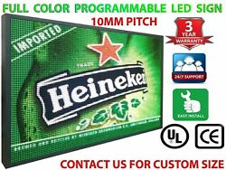 Digital Led Signs Full Color 25 X 88 Image Text Logo Graphics Display Board
