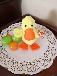 Rare And Retired, Vintage Quackers Beanie Baby, Pristine Condition