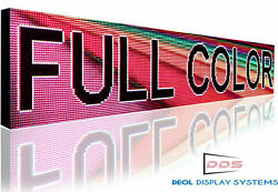 Full Color Led Signs Digital Programmable 20 X 63 Board Open Neon Display