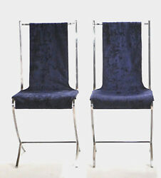Rare Pair Of Chairs By Pierre Cardin For Maison Jansen 1970s