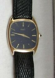 Piaget / 18ct Yellow Gold / Blue Face / Ultra Thin / Gents / Unisex Watch