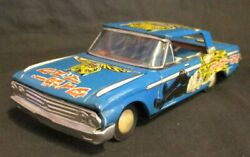 Takatoku Tiger Mask Ford Galaxy Friction Tin Toy Figure Blue 245mm Anime 1960s