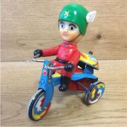 Miura Toy Big X Wind-up Tin Tricycle Vintage Toy Figure Rare Japan 3426