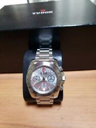 Tudor Sport Chronograph 20300 Self-winding Dial Checker Dial Belt Ss Watch Used