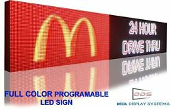 Led Signs Full Color 20 X 88 Still Scrolling Image Text Open Display Board