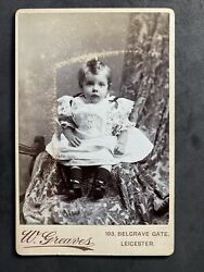 Victorian Photo Cabinet Card Child Boy Top Curl From Leicester Album Greaves