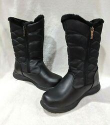 totes Women#x27;s Jazzy Black Waterproof Winter Boots Size 7 NWB WIDE $34.99