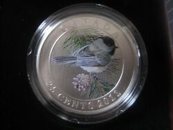 25 Cent Oversize Coin Bird Series-black-capped Chickadee Canada 2011