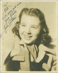 Jane Withers - Inscribed Photograph Signed