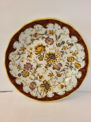 Hand Painted Wong Lee 1895 Wl Porcelain Floral Wall Plate 9067 10 Wide