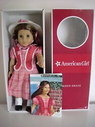 American Girl 18 Doll Marie Grace W/hat Released 2011-retired 2014 Historical