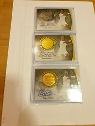 3 X 2015 Ultimate Leaf Tennis World Class Roger Federer Auto Autograph Signed Nm
