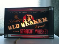Art Deco Electric Sign By Shank Sign Co New York Metal Old Quaker Whiskey