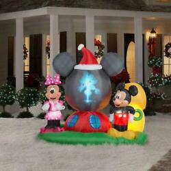 Christmas Inflatable Mickey Mouse's Clubhouse Scene 6.5ft H Panoramic Projection