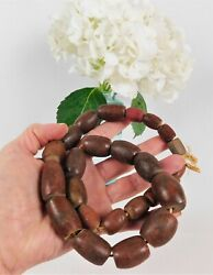 Old Native American Pipestone Hudson Bay African Trade Beads 20 Strand 25 Beads