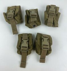 Lot Of 5 Ea. Eagle Industries Molle Ii Coyote Grenade Pouch Mc-fgc-1-ms-coy