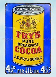 Fry's Breakfast Cocoa Vintage Ads Metal Tin Sign Art Posters Sale