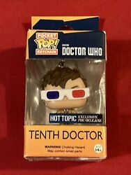 Funko Pop Tenth Doctor Doctor Who Pocket Keychain New Hot Topic - C