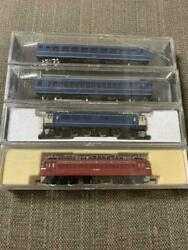 Tomix Kato N Gauge Scale Model Train With Case Set Of 4 Blue Red Toy Japan 3556
