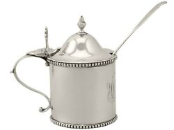 Newcastle Sterling Silver Mustard Pot - Antique George Iii