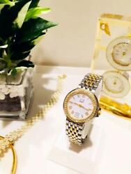 Dunhill Elite Round Ladies Watch 2989 White Gold 1500l Yellow Gold Excellent+++