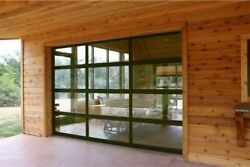 Full View Garage Door 8 Ft By 7 Ft Anodized Bronze Frame With Clear Glass